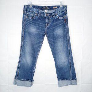 Silver Jeans Frances Capri Women Size 31 Blue